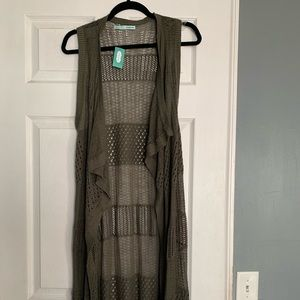 NWT. Maurice's full length knitted vest